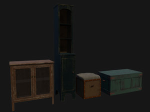 3D cabinets boxes
