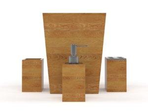 bathroom accessories set model