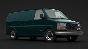 3D model gmc savana van