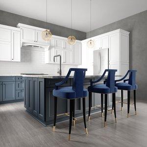 3D townsend kitchen interior model