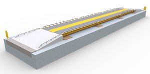 truck scales railroad track 3D