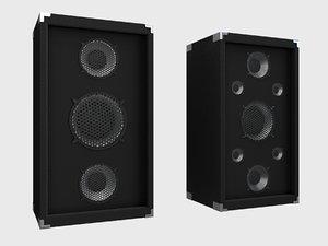 3D speaker electronics loudspeaker model