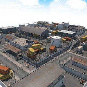 3D industrial area model
