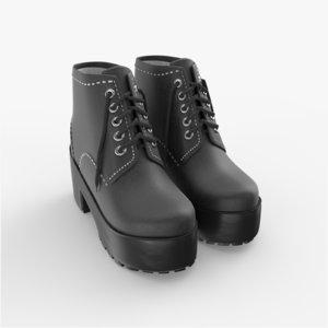 3D boots shoe footgear