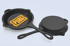 3D pubg frying pan model