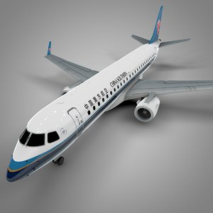 china southern embraer190 l606 3D model