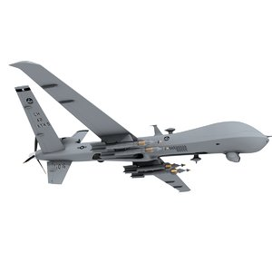 3D model unmanned mq-9 reaper usaf