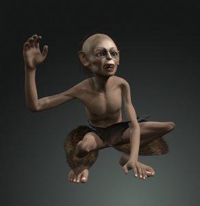 figure gollum design character 3D model
