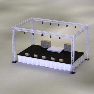 3D model concerts stage
