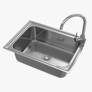 3D realistic kitchen sink 04