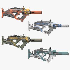 futuristic smg gun 3D model