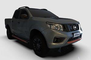 3D 2020 nissan black model