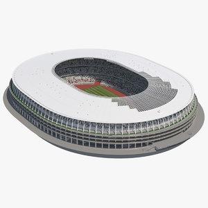 3D football pitch stadium arena