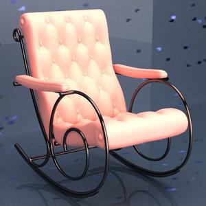 3D model rocking arm chair