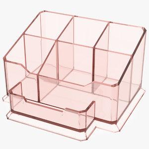 acrylic desk pen organizer 3D