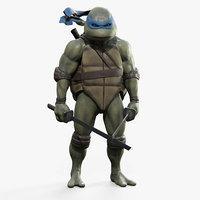 3D leonardo teenage mutant ninja turtles
