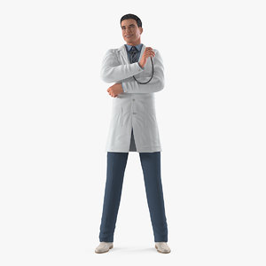 smiling male doctor 3D