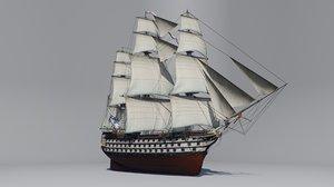 3D sea ship apostles line