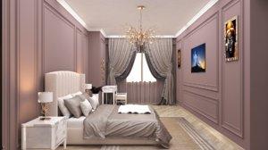 3D model interior design aytac bedroom