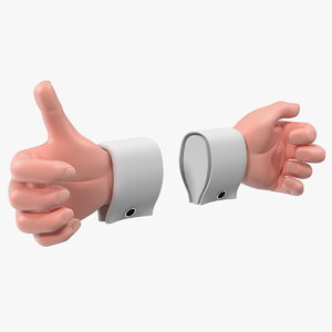 cartoon man hands rigged 3D