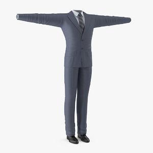 3D mans formal grey suit