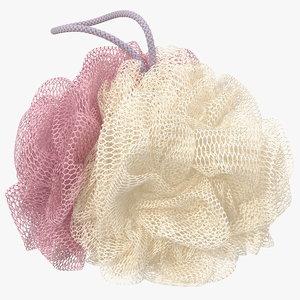 mesh bath sponge 3D