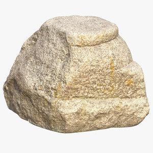3D medieval stone column piece