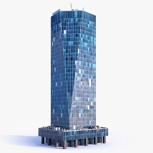 skyscraper building 03 3D model