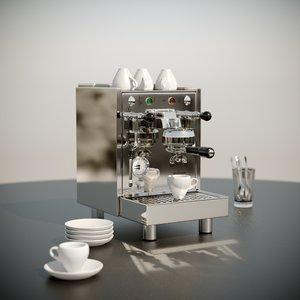 3D espresso machine bezzera maker model