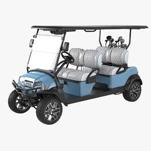 golf car long clubs 3D