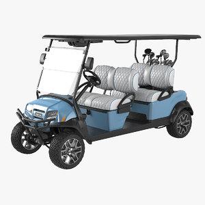 golf car long clubs 3D