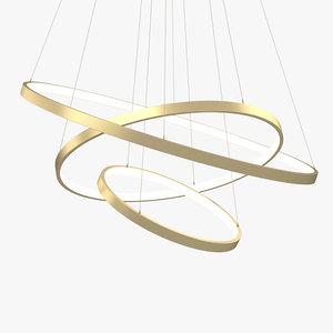 3D modern circular led model