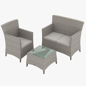 3D model garden furniture set 003
