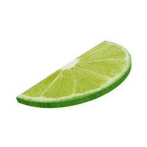3D lime slice