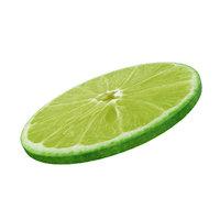 Lime round slice
