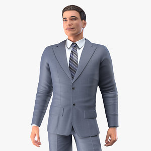 3D businessman rigged business male man