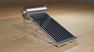3D solar water heater