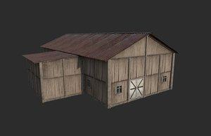 barn modeled 3D model
