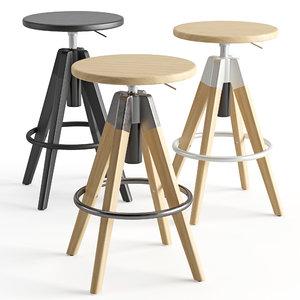 bar stool arki 3D model