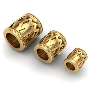 3D charm jewelry bracelets model
