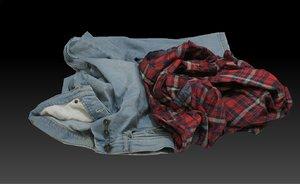 pile cloths 3D model