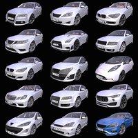 Mega Pack of 15 Generic European cars 2