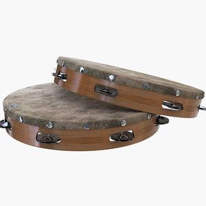 3D tambourine music percussion