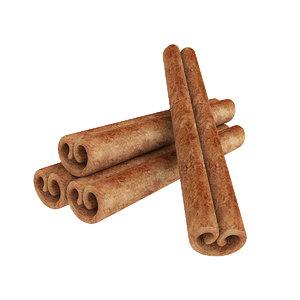 3D cinnamon stick