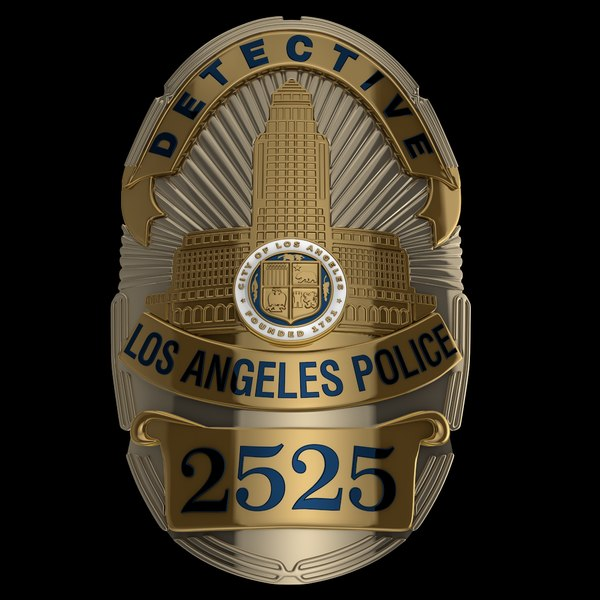 police badge los angeles model