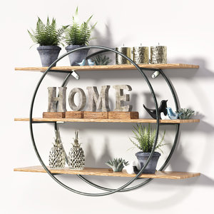 metal frame shelf decorative 3D model