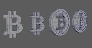 bitcoin coins 3D