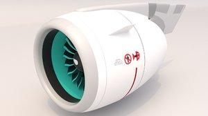 3D neo jet engine model