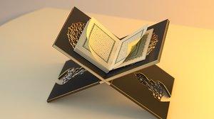 3D model holy book quran
