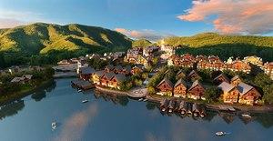 cityscape river building 3D model